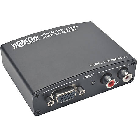 Tripp Lite VGA to HDMI Component Adapter Converter with RCA Stereo Audio VGA to HDMI 1080p - Functions: Video Scaling - 1920 x 1440 - VGA - Audio Line In - External