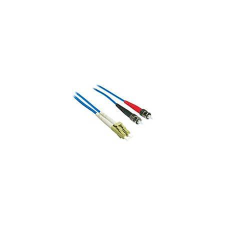 C2G 3m LC-ST 62.5/125 OM1 Duplex Multimode Fiber Optic Cable (Plenum-Rated) - Blue
