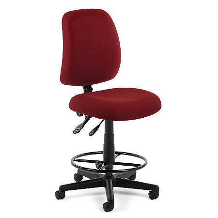 OFM Posture Series Fabric Task Chair With Drafting Kit, Wine/Black