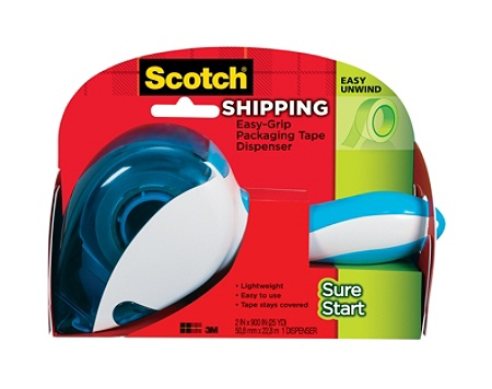 Scotch Sure Start Shipping Tape Dispenser 1 5 Core With 1 Roll Of Sure Start Tape Item 431220