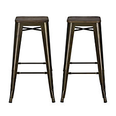 DHP Fusion Backless Bar Stool Bronze