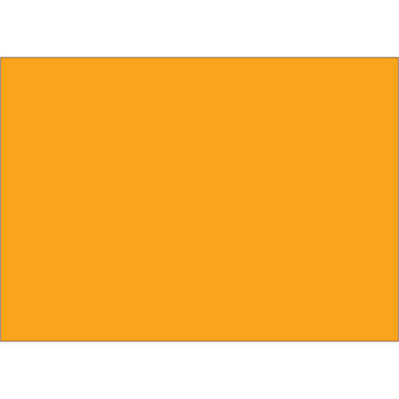 "Tape Logic® Write™On Inventory Labels, DL639H, Rectangle, 5"" x 7"", Fluorescent Orange, Roll Of 500"