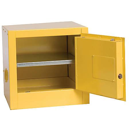 90GAL. 2-DOOR SAFETY STORAGE CABINET 2 SHELVES