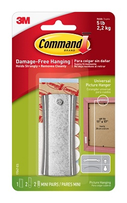 Command Damage Free Picture Hanging Sticky Sawtooth Nail 58 X 1 38 White By Office Depot Officemax