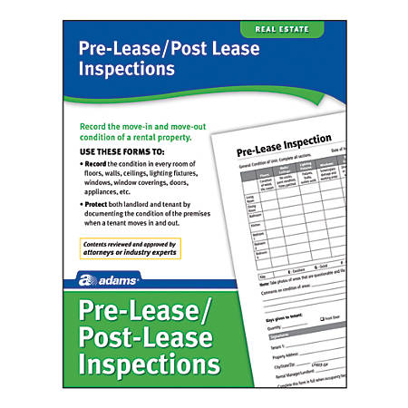 Adams® Pre-Lease & Post-Lease Inspections