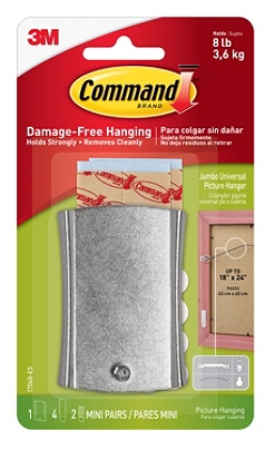 Command Damage Free Picture Hanging Sticky Nail 58 X 1 38 White By Office Depot Officemax