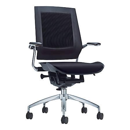 "Koplus BodyFlex Fabric Task Chair, 22 1/2""W, Black"