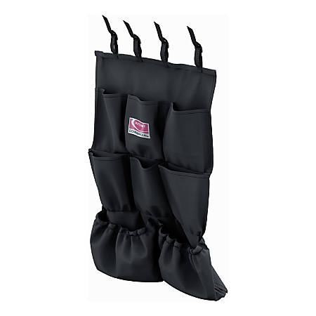 "Suncast Commercial 8-Pocket Housekeeping Bag, 26-13/16"" x 19-1/2"", Black"