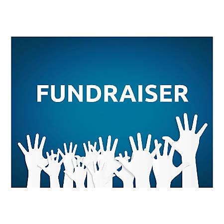 Plastic Sign, Fundraiser Hands, Horizontal