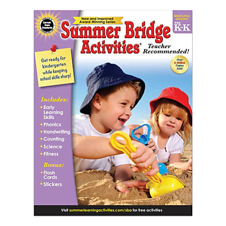 Carson-Dellosa Summer Bridge Activities Workbook, Grades Pre-K - K