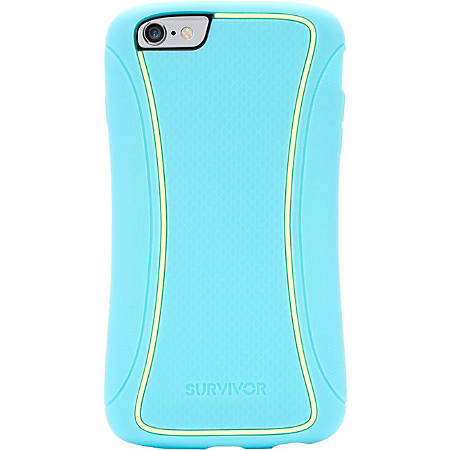Griffin Survivor Slim for iPhone 6 Plus - For iPhone - Textured - Turquoise - Smooth - Drop Resistant, Damage Resistant, Impact Resistant, Slip Resistant, Impact Absorbing, Scratch Resistant, Smudge Resistant, Dent Resistant - Polycarbonate, Silicone