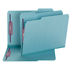Smead Color Pressboard Fastener Folders With