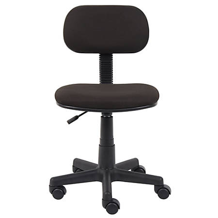 Boss Fabric/Plastic Low-Back Task Chair, Black
