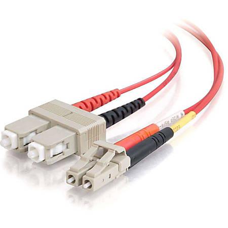 C2G-2m LC-SC 62.5/125 OM1 Duplex Multimode Fiber Optic Cable (Plenum-Rated) - Red - Fiber Optic for Network Device - LC Male - SC Male - 62.5/125 - Duplex Multimode - OM1 - Plenum-Rated - 2m - Red