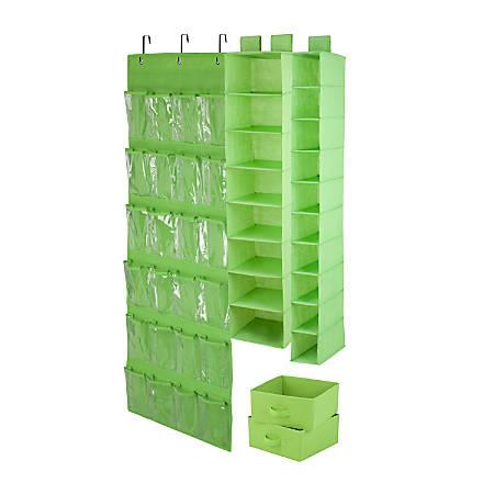 Honey-Can-Do 4-Piece Closet Organization Set, Lime