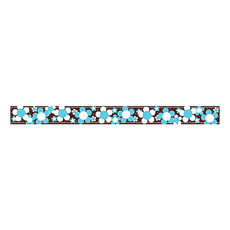 """Barker Creek Straight-Trim Border Sets, 3"""" x 35"""", Hot To Dot Blooms, Pre-K To College, Pack Of 36"""