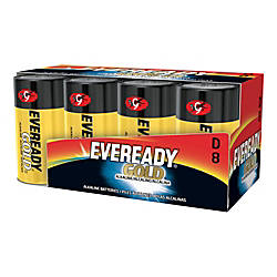 Eveready Alkaline D Batteries Pack Of