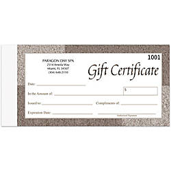 Gift Certificates 7 x 3 58