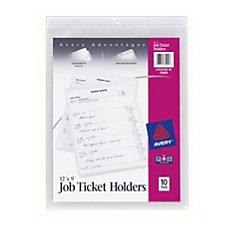 Avery Vinyl Job Ticket Holder 9
