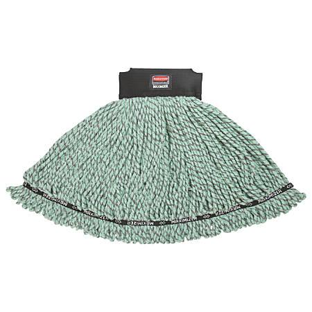 Rubbermaid® Maximizer Microfiber Blend Mop Head, Medium, Green