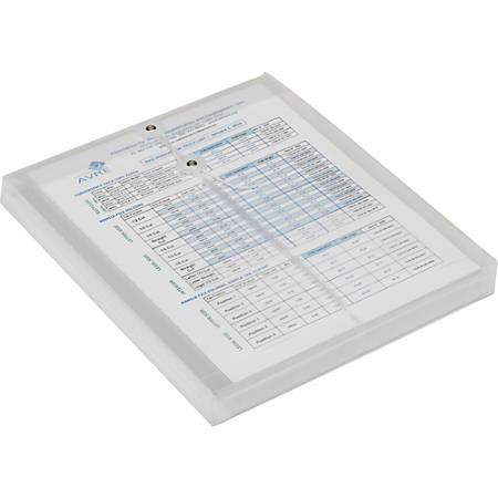 SKILCRAFT String Close Poly Booklet Envelope Jackets - Booklet - Letter - String Tie - Polypropylene - 5 / Pack - Clear