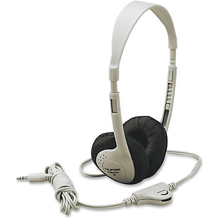 Califone Multimedia Stereo Headphone Wired Beige - Stereo - Beige - Mini-phone - Wired - 25 Ohm - 20 Hz 20 kHz - Nickel Plated Connector - Over-the-head - Binaural - Supra-aural - 8 ft Cable