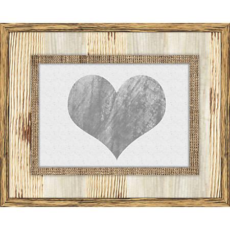 """PTM Images Photo Frame, Heart Burlap, 15""""H x 3/4""""W x 12""""D, Sand"""