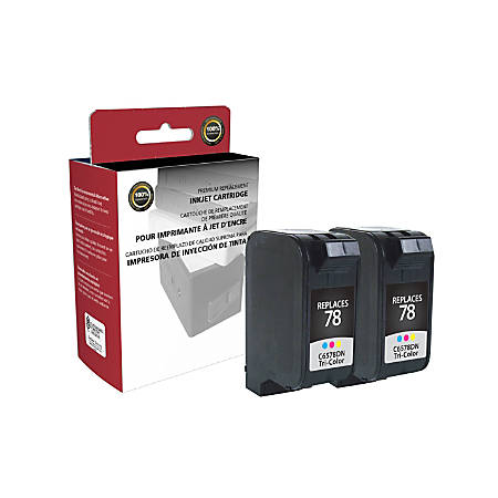 Clover Technologies Group™ OD78DNX2 (HP 78 / C6578DN) Remanufactured Tricolor Cartridges, Pack Of 2 Cartridges