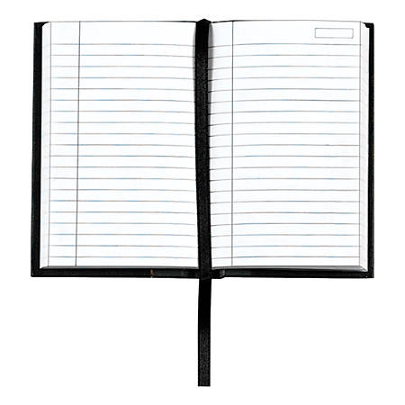 """TOPS® Royale Casebound Notebook, 3 1/2"""" x 5 1/2"""", Legal Ruled, 96 Sheets, Gray"""
