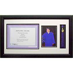 gemline diploma frame with photo insert and tassel opening 12 x 22 - Diploma Tassel Frame