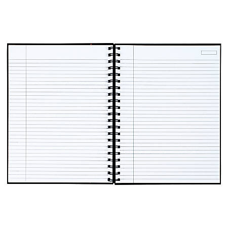 "TOPS® Royale Wirebound Notebook, 8"" x 10 1/2"", Legal Ruled, 96 Sheets, Gray/Black"
