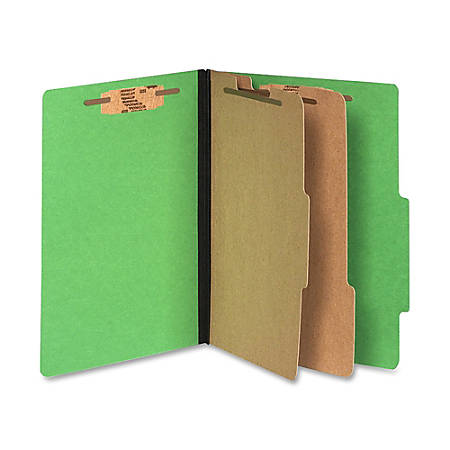ACCO® Color Life Presstex Top-Tab Folders, Letter Size, 30% Recycled, Green, Box Of 10