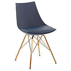 Ave Six Oakley Chair NavyGold Chrome