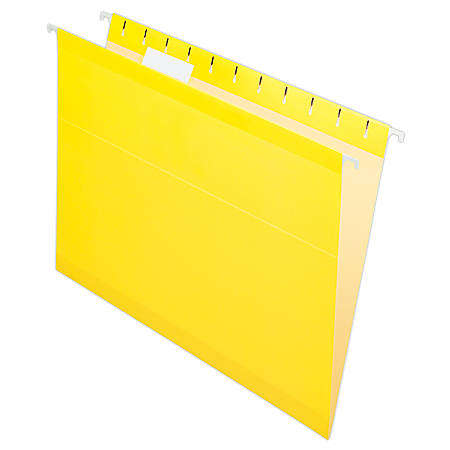 Pendaflex® Premium Reinforced Color Hanging Folders, Letter Size, Yellow, Pack Of 25