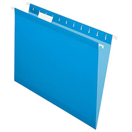 Pendaflex® Premium Reinforced Color Hanging Folders, Letter Size, Blue, Pack Of 25