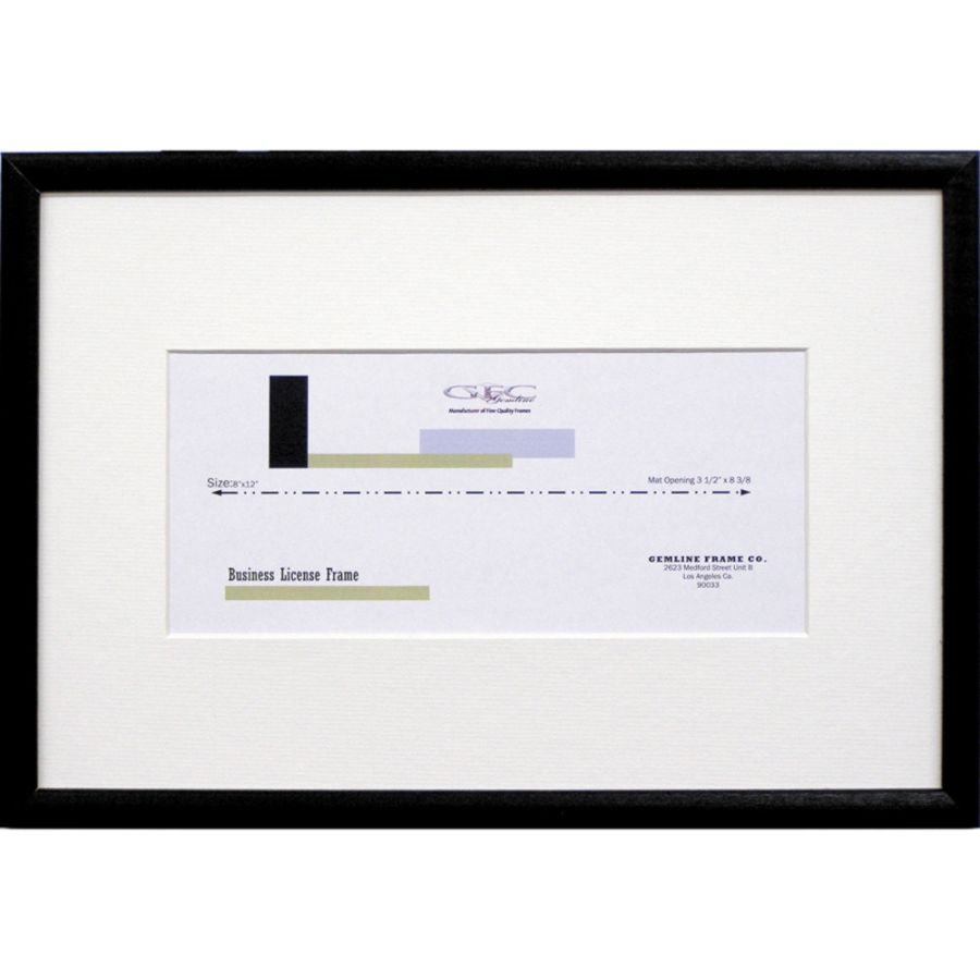 Business LicenseCertificate Frames BlackClear Glass Pack Of 6 by ...
