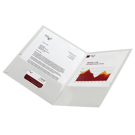 Office Depot Brand Laminated Twin Pocket Portfolios White Pack Of 10 By Officemax