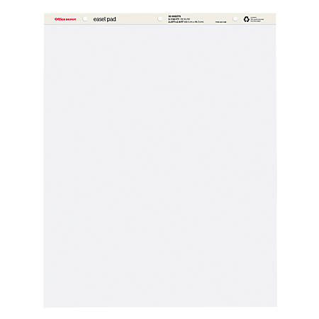 """Office Depot® Brand Standard Easel Pads, 34"""" x 27"""", 30% Recycled, White, 50 Sheets, Pack Of 4"""