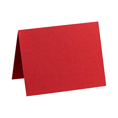 """LUX Folded Cards, A9, 5 1/2"""" x 8 1/2"""", Ruby Red, Pack Of 50"""