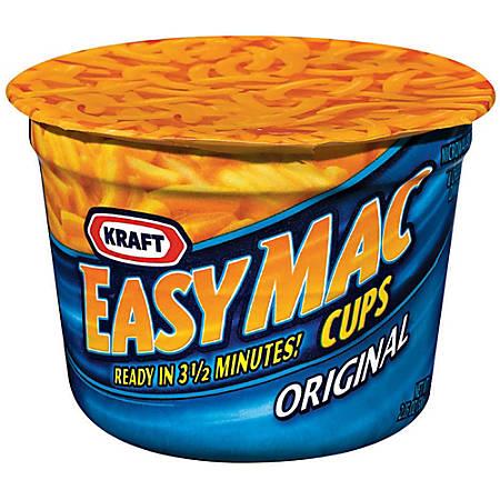Easy Mac Original Microwave Single Serve Dinners, 2.05 Oz, Box Of 10