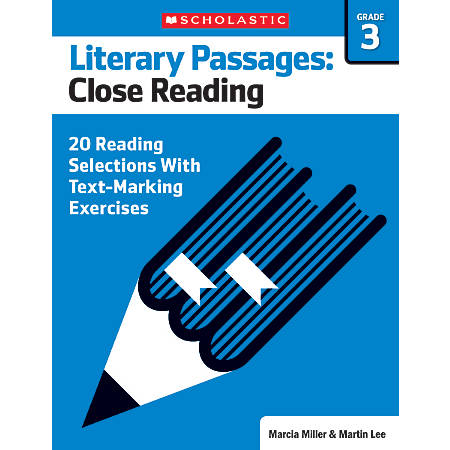Scholastic Literary Passages Close Reading Workbook, Grade 3