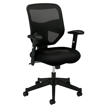 Basyx By Hon Vl531 High Back Mesh Fabric Task Chair 42 12 H X 29 W X