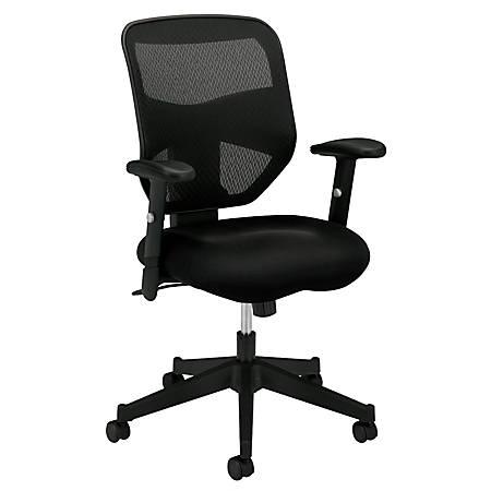 Basyx By Hon Vl531 High Back Mesh Fabric Task Chair 42 12 H X 29 W X