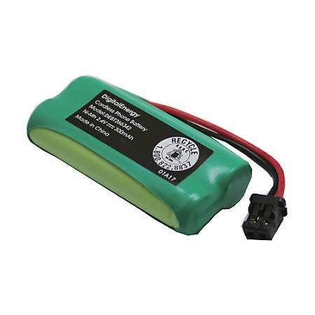 Digital Energy® Cordless Phone Battery, 2.4 Volts, 300 mAh Capacity, DEBT266342