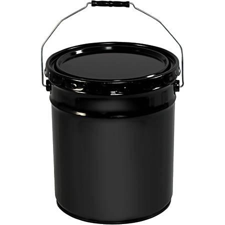 Office Depot® Brand Metal Pail Shipper, Open Head With Handle, 5 Gallon, Black