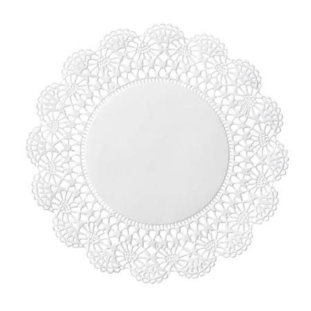 """Hoffmaster Cambridge Lace Doilies, 6"""", White, Case Of 1,000 Doilies"""