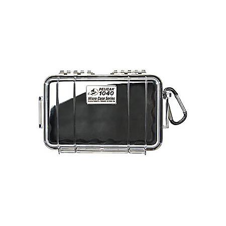 "Pelican 1040 Micro Case with Black Liner - 5.06"" x 2.12"" x 7.5"" - Clear"