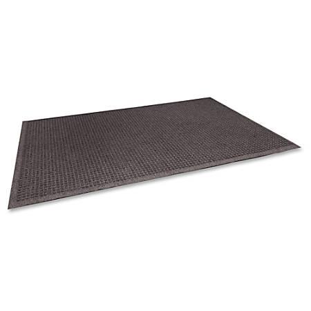 "Genuine Joe Ecoguard Floor Mat - Building - 36"" Length x 24"" Width - Rectangle - Fiber - Brown"