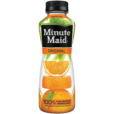 Minute Maid Orange Drink, 15.2 Oz. Bottles, Pack Of 24