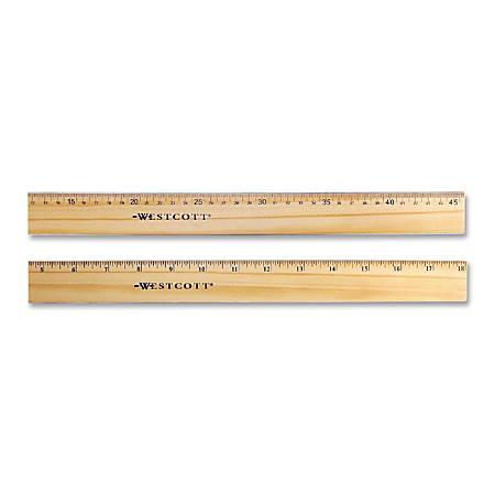 Acme Flexible Wood/Brass Edge Office Ruler